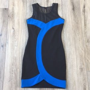 Dresses & Skirts - Black and blue bodycon dress